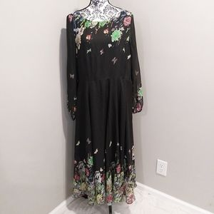 Floryday Oversized Floral Maxi Dress